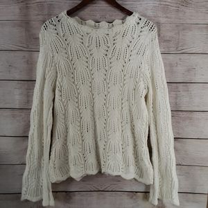 Worthington Essentials Cotton Lace Sweater